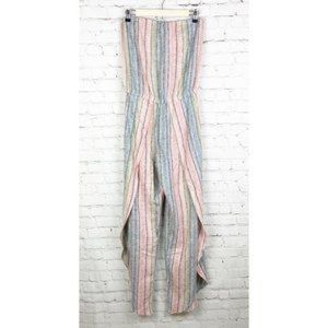 NEW Anthropologie DREW stripe jumpsuit cover up S